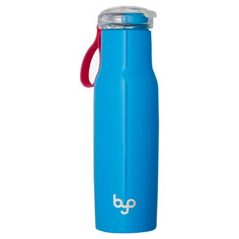 BYO® 18oz Double-Walled Vacuum Insulated Stainless Steel Water Bottle with Flip Top Lid - Blue - image 1 of 2