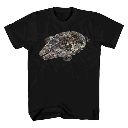 Men's Star Wars® Millennium Falcon T-Shirt Black - image 1 of 1