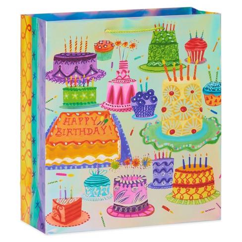 Tremendous Birthday Cake Large Gift Bag Papyrus Target Personalised Birthday Cards Beptaeletsinfo