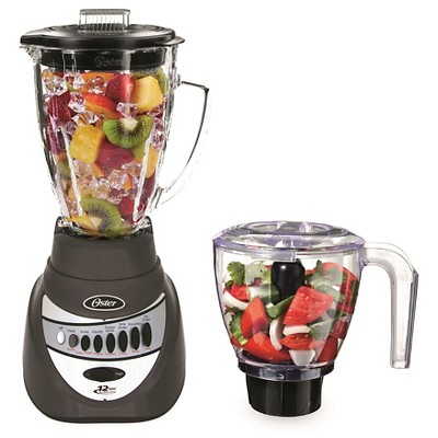 Oster Precise Blend Blender 700 + Food Chopper Gunmetal BLSTTA-GFP