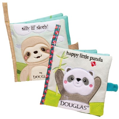 Douglas Silly Little Sloth and Happy Little Panda Crinkle Cloth Activity Book Set