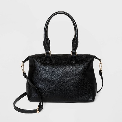 Soft Mid Size Zip Closure Satchel Handbag - A New Day™