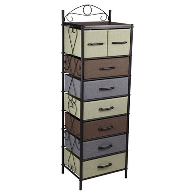 Household Essentials 7 Tier Vertical Storage Drawer Unit