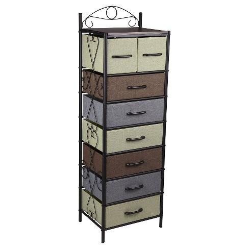 Household Essentials 7 Tier Vertical Storage Drawer Unit