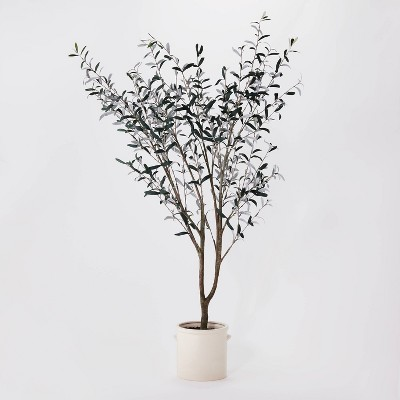 "76.5""x 30"" Artificial Olive Tree in Ceramic Pot - Threshold™ designed with Studio McGee"