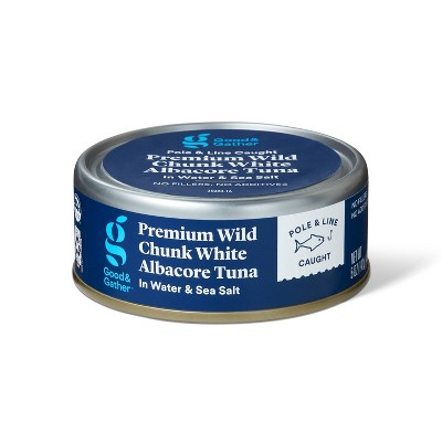 Premium Wild Albacore Chunk White Tuna in Water and Sea Salt - 5oz - Good & Gather™