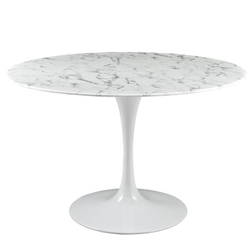 Lippa Round Artificial Marble Dining Table - Modway - image 1 of 4