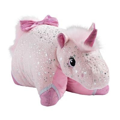 Sparkly Unicorn Pink Pillow - Pillow Pets
