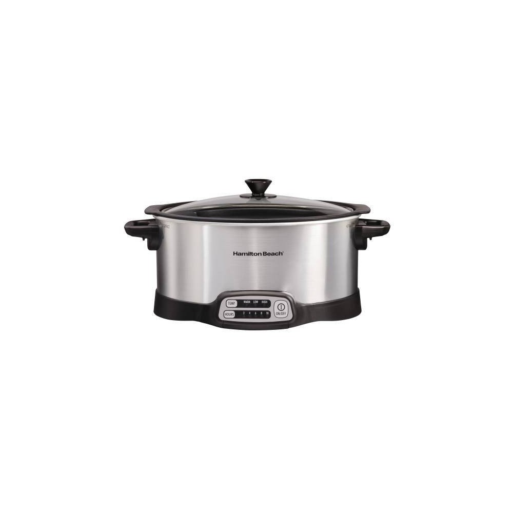 Image of Hamilton Beach 6qt Stovetop Slow Cooker - Silver