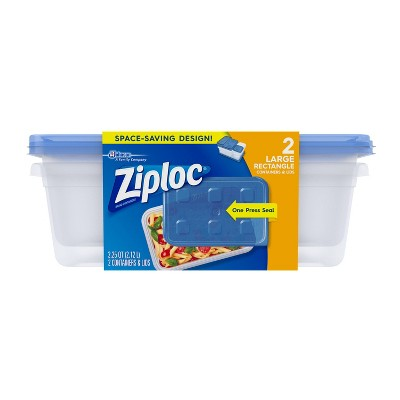 Ziploc Large Rectangle - 2ct Containers