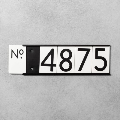 House Numbers Mounting Plate Black 5 Spaces - Hearth & Hand™ with Magnolia