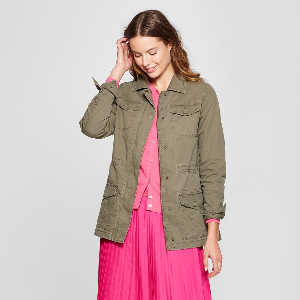 Women's Military Jacket - A New Day Olive (Green) Xxl