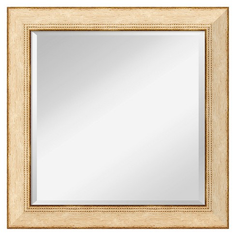 Square Highland Park Cream Decorative Wall Mirror - Amanti Art - image 1 of 9