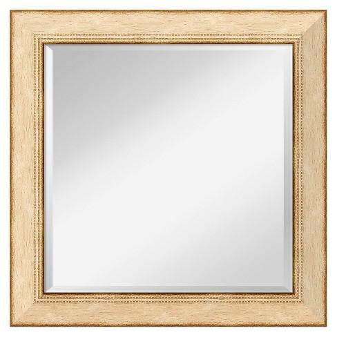 Square Highland Park Cream Decorative Wall Mirror - Amanti Art - image 1 of 4