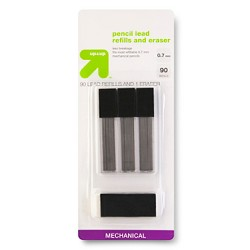 Pencil Lead Refills and Eraser 0.7mm 90ct - Up&Up™