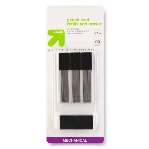 Pencil Lead Refills and Eraser 0.7mm 90ct - Up&Up™ - image 1 of 1