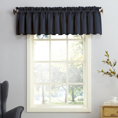 Seymour Energy Efficient Rod Pocket Curtain Valance Navy 54 x18 - Sun Zero