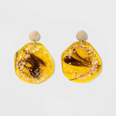 Bead Earrings - A New Day™ Rose Gold - image 1 of 3