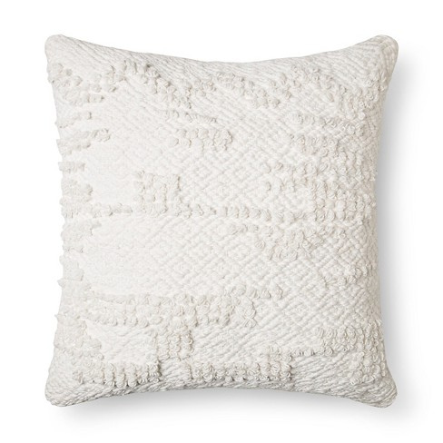 "Cream Woven Square Throw Pillow (18""x18"") - Threshold™ - image 1 of 1"