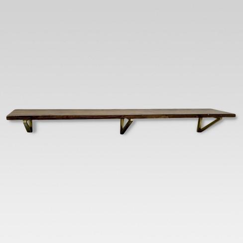 Wall Shelf with Polished Brass Brackets - Large - Threshold™ - image 1 of 2