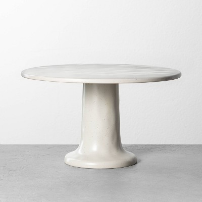 Refined Stoneware Tall Cake Stand Speckled Natural - Hearth & Hand™ with Magnolia