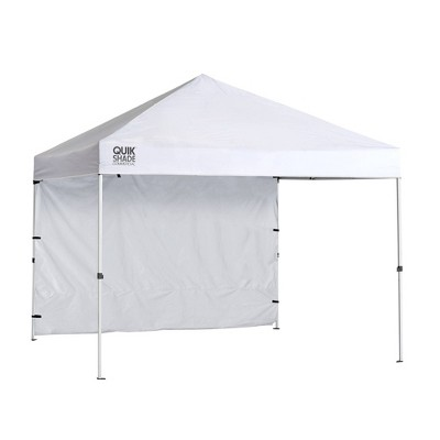 Quik Shade Commercial C100 10x10 Instant Canopy w/Wall Panel - White