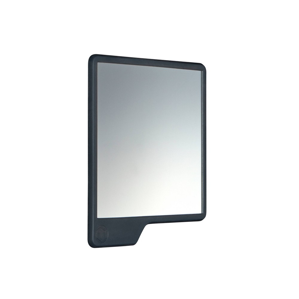 Image of The Oliver Shower Mirror Charcoal - Tooletries
