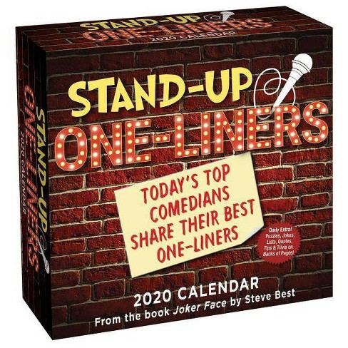 Best Stand Up Comedians 2020 Stand Up One Liners 2020 Day To Day Calendar   By Steve Best : Target