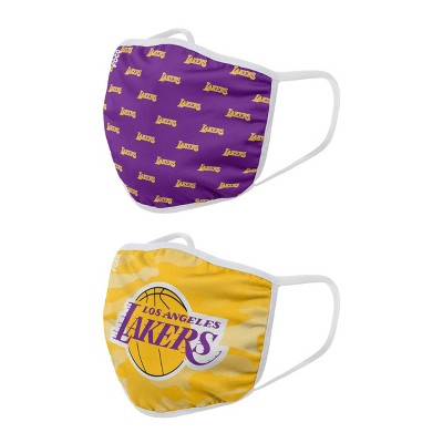 NBA Los Angeles Lakers Adult Face Covering 2pk