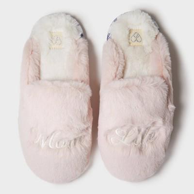 Women's dluxe by dearfoams Mom Life Slide Slippers - Pink M (7-8)