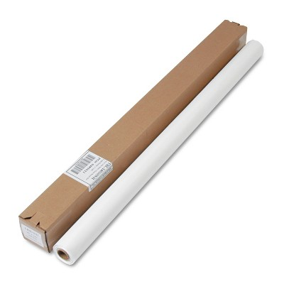 """Tablemate Table Set Plastic Banquet Roll Table Cover 40"""" x 100ft White I4010WH"""