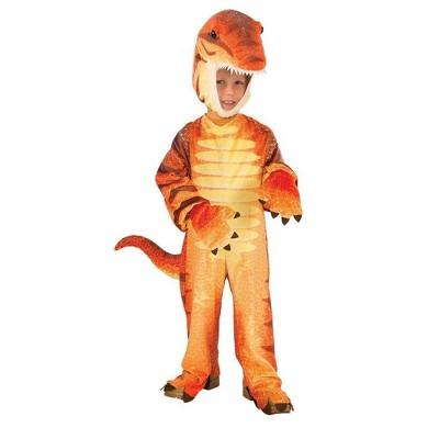 Forum Novelties Plush Orange Raptor Dinosaur Costume Child Toddler