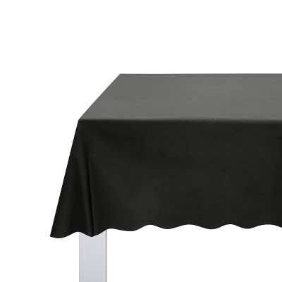 """54"""" x 108"""" Solid Table Cover Black - Spritz™"""