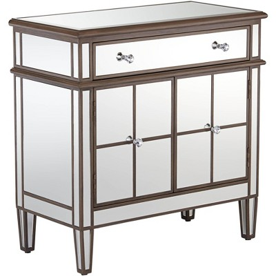 """Powell Vicenta 32"""" Wide Mirrored Accent Chest"""