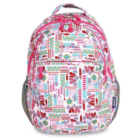 "JWorld 19"" Cornelia Laptop Backpack - Heart Factory - image 1 of 4"