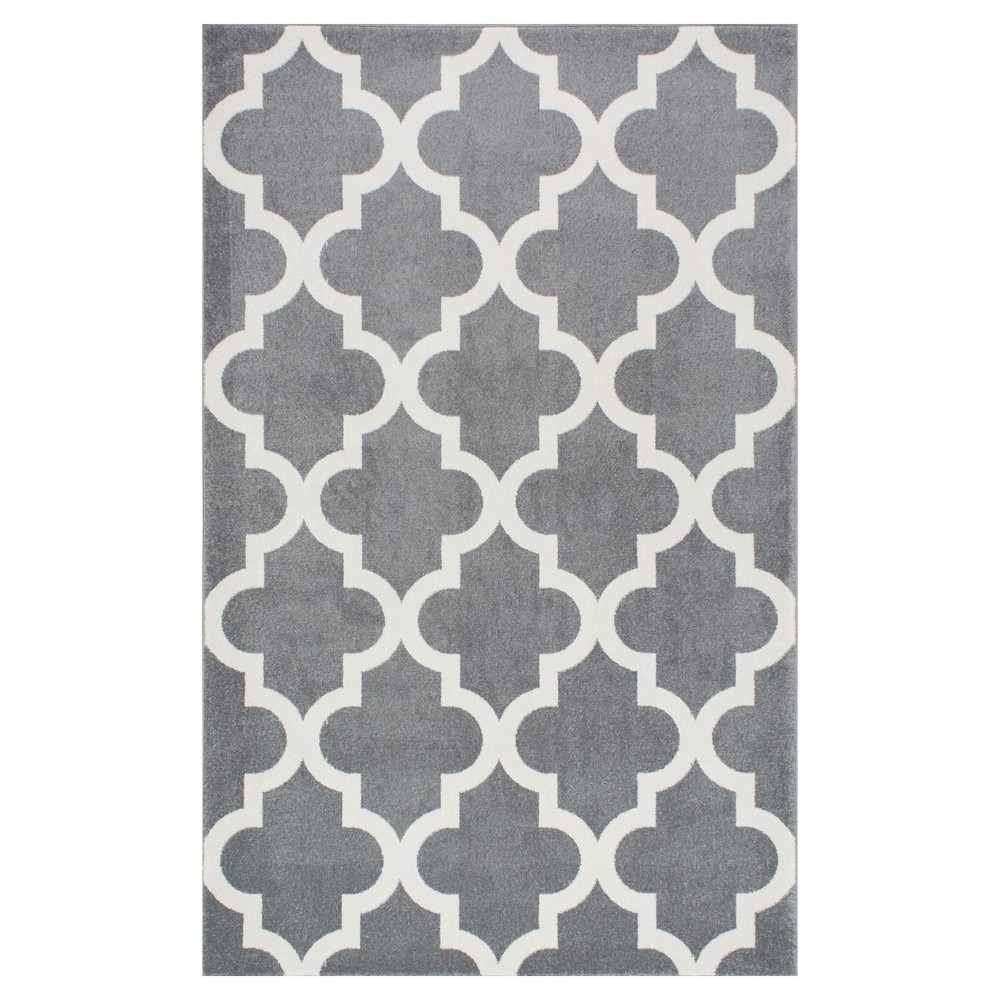 Sterling Gray Abstract Loomed Area Rug - (9'x12') - nuLOOM, Blue
