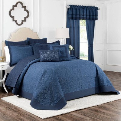 King Bensonhurst Bedspread Blue - Vue