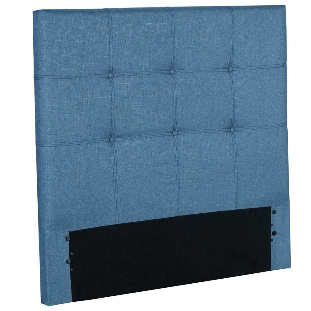 Henley Upholstered Kids Headboard Panel - Denim Blue - Twin - Fashion Bed Group, Dk Denim