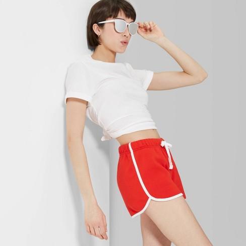 4e07132d97 Women's High-Rise Fleece Dolphin Shorts - Wild Fable™ Company Red