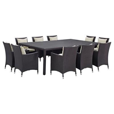 Incroyable Convene 11 Piece Outdoor Patio Dining Set   Modway : Target