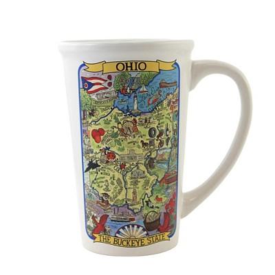 "Tabletop 6.25"" Ohio Souvenir Jumbo Mug Buckeye State Destination Certified International  -  Drinkware"