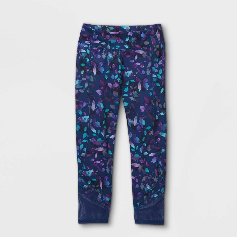 Girls 39 Side Pocket Capri Leggings All In Motion 8482 Sapphire Xl