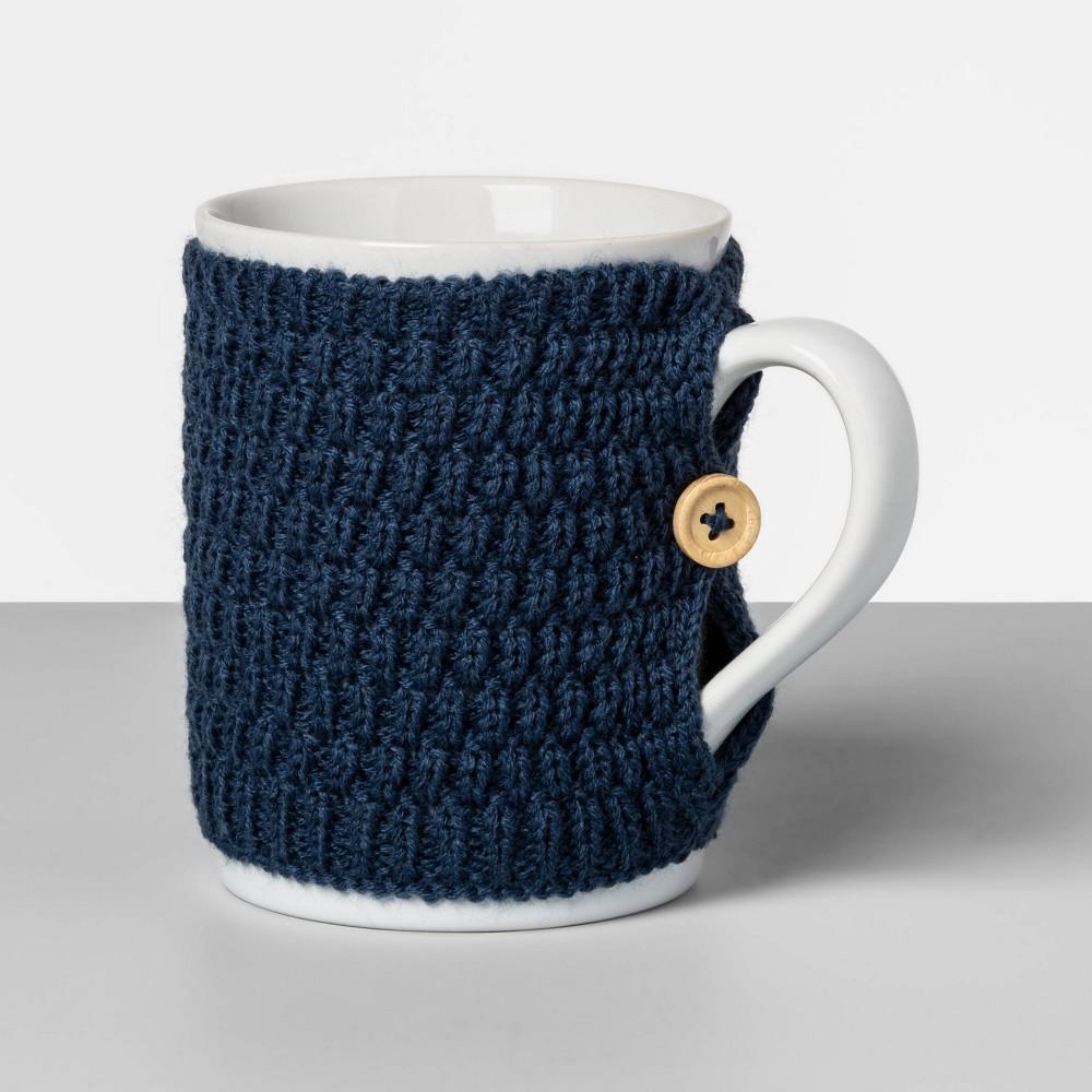 Image of 13oz Stoneware Sweater Mug Blue - Opalhouse
