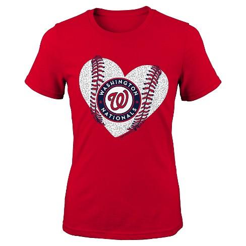 41b2003c738 Washington Nationals Girls Crew Neck T-Shirt S   Target