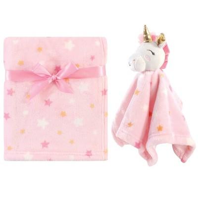 Luvable Friends Unisex Baby Unicorn Themed Baby Bedding Set Unicorn Blanket and Security Blanket - One Size