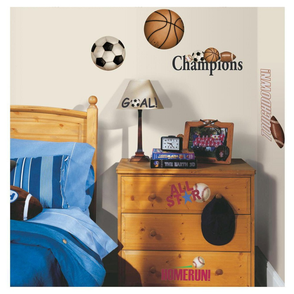 RoomMates Peel and Stick Wall Decals Play Ball