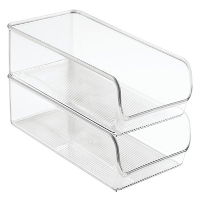 InterDesign Fridge Organizer Bins 11 X7  4pk Clear