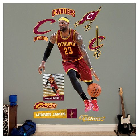 6ea8f6881ede NBA® Cleveland Cavaliers Lebron James On The Move Fathead Wall Decal ...