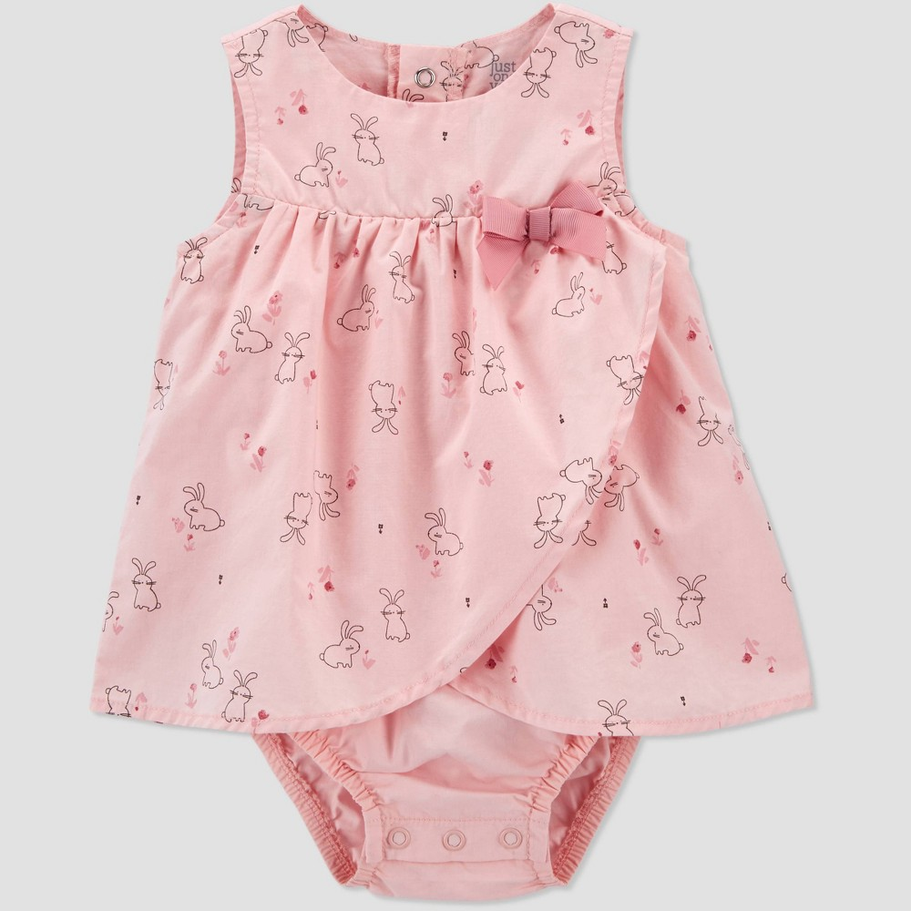 Baby Girls 39 Bunny Romper Just One You 174 Made By Carter 39 S Pink 6m