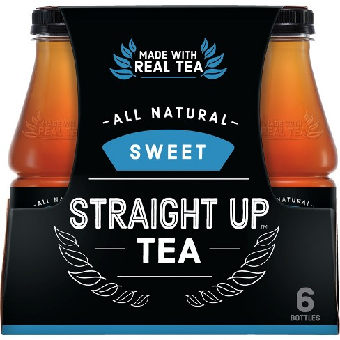 Straight Up Tea, Sweet Black Tea - 6pk/18.5 fl oz Glass Bottles - image 1 of 3